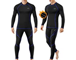 MOBIUSPHY Biancheria Intima Termica Uomo Biancheria Funzionale Uomo con Funzione Quick Dry Sportiva Set di Biancheria Intima