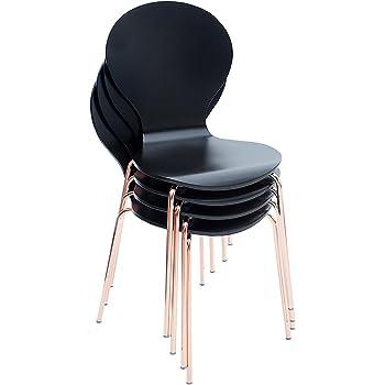 Stapelstuhl bistrostuhl stuhl esszimmerstuhl k chenstuhl for Designklassiker stuhl holz
