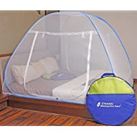 Classic Mosquito Net, Double Bed King Size Bed, Polyester Foldable - Blue