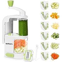 Sedhoom Spiraliseur de légumes avec 6 Lames, Coupe Legumes Multifonctions à Spaghettis de légumes, Coupe Legumes…