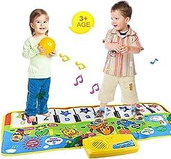 FOONEE piano tappetino gioco portatili musica tappetino tappeto per bambini/bambini/animali giocattolo musicale per bambini