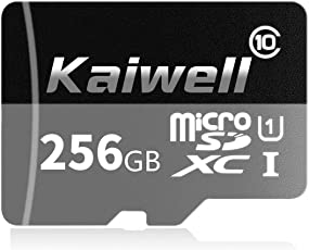Kaiwell Micro SD SDXC 256GB Class 10 Speicherkarte, für Smartphones und Tablets,(inkl. SD Adapter)