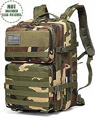 Songwin 43L Militärischer taktischer Rucksack,Kompakt & wasserdicht Barbarians Molle Tasche Armee Assault Rucksack für Outdoor Wandern Camping Reisen.