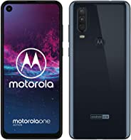 moto one action Dual-SIM Smartphone (6,3-Zoll-Display, Dreifach-Kamerasystem 12-MP- + 5-MP-Dual-Kamera + 16-MP-Video-Modus,