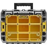 DeWalt Tstak V Organizer/stapelbare gereedschapskist (met transparant deksel, twee grote en vijf kleine uitneembare inzetboxe