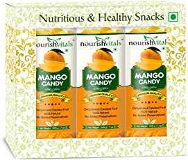 Nourish Vitals Mango Dried Fruit (Dehydrated Fruits) - 200 gm - Pack Of 3