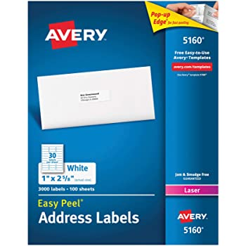 avery white copier labels 30 per sheet 70x30mm white ref 3489 3000