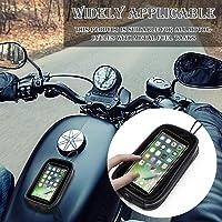 Handyhalterung Fahrrad Motorrad-Tankrucksack, Universal Motorrad Magnet Tank Handyhalter Tasche mit Transparent Fenster…