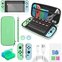 Auarte Custodia da Viaggio e Set di Accessori Compatibile con Nintendo Switch, 12-in-1 Upgrade Switch Bundle Kit con…