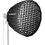 Neewer 97cm Suave Parabólica Profunda con Montura Bowens Difusor y Rejilla Desmontables Internos Externos Difusor de Softbox