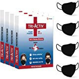 Tri-Activ 6 Layer Protective Face Masks, PM2.5 / N95 Tested as per NIOSH standard, Anti-Virus Coating, 99.5% Filtration…