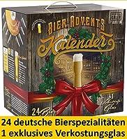 Kalea Bier-Adventskalender 2019   24 Deutsche Bier-Spezialitäten und 1 Verkostungsglas   24 x 0.33 l Flaschen  ...