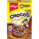 Kellogg's Chocos with Free Mask for Kids | Protein & Fibre of 1 Roti* in Each Bowl**| High in Calcium & Protein | with 10 Ess