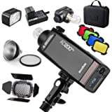 Godox AD200 Pro Version, 200Ws 2.4G Flash, 1/8000 HSS, 500 Flashes a Plena Potencia, 0.01-2.1s Recycling, Tiempo de Reciclaje