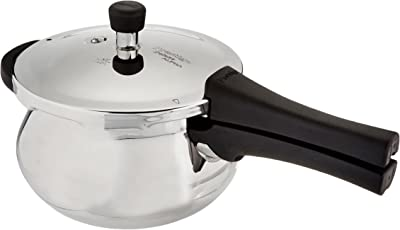 Prestige Deluxe Alpha Outer Lid Stainless Steel Pressure Cooker, 3.3 Litres, Silver