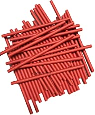 Kriwin Solid Paper Straws, 7 3/4-Inch/8mm Wide (Red) - Pack of 100