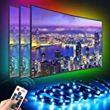 infinitoo LED TV Backlight, 6.56ft Colorful 5050 RGB LED Strip Lights for HDTV up to 60 inch with 17 Keys Remote Control for