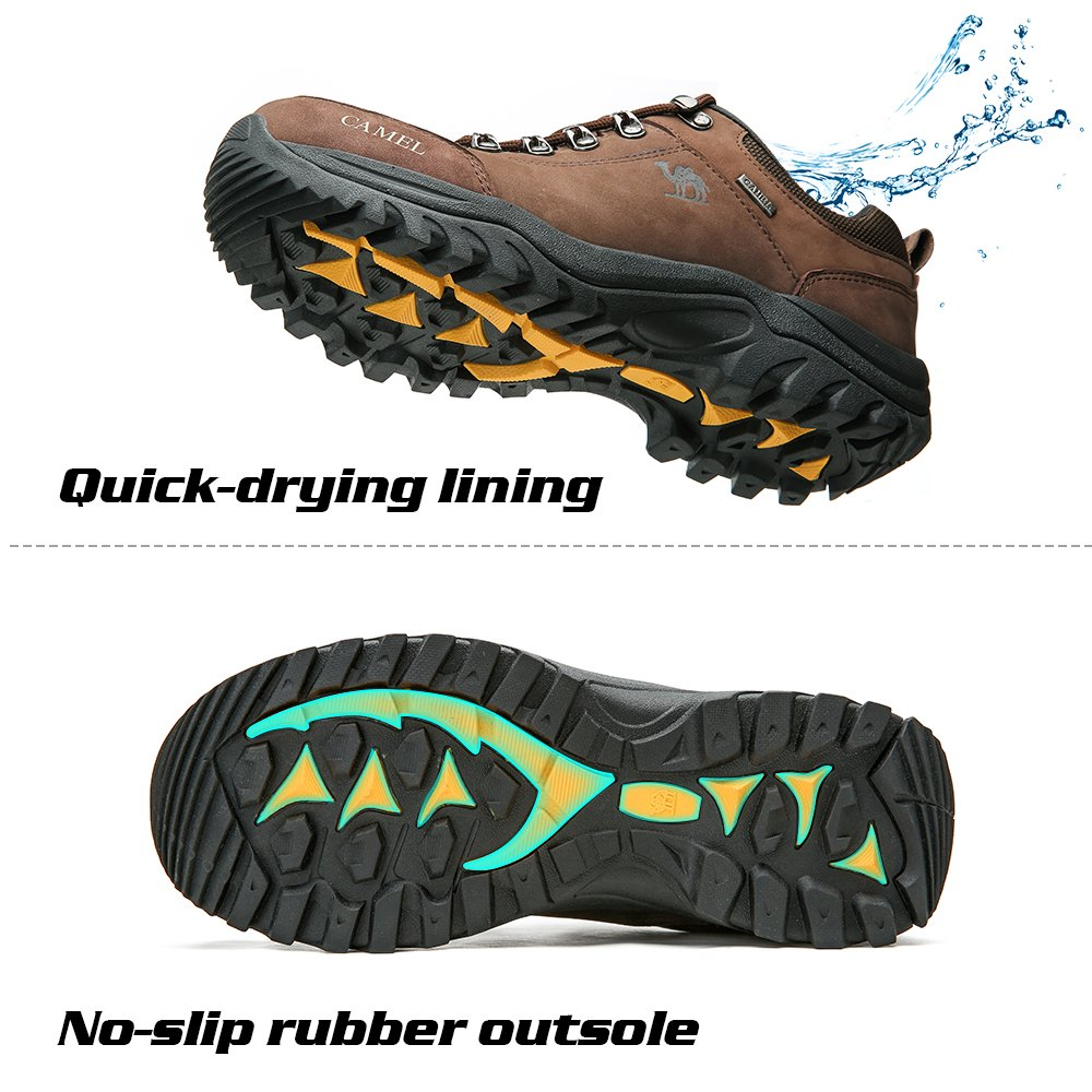2866b5bdeb82f CAMEL CROWN Mens Walking Shoes Breathable Hiking Shoes Trainers Anti ...