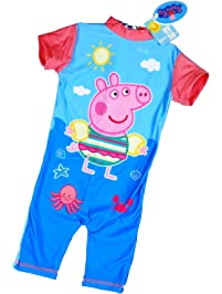 498d1fb025ea4 Peppa Pig UV 50+ Sun Protection Swimsuit for Boys and Girls, One Piece  Swimming