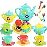 Crown Deals® Royal Tea Set Tea Party Pretend Playset for Kids, Tea Pot Play Set Pretend Play Set Girls Kitchen Toy…