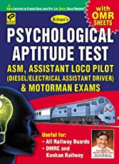 Psychological Aptitude Test ASM, Assistant Loco Pilot & Motorman Exams ( with OMR Sheets)—English - 1704
