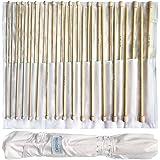 Set 32 Agujas de Tejer de Bambú por Curtzy - 16 Pares de Agujas de Madera de 34cm con Bolsa Gratis para Guardarlas - para Sué