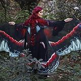 ZCRFYY Mujeres para Mujer Chal Mariposa alas de la Mariposa Dance Mariposa alas para Las Mujeres para Navidad/Halloween/Playa