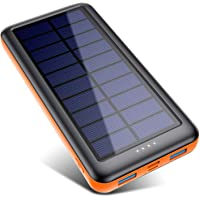 Pxwaxpy Solar Powerbank Outdoor 26800mah【3 Eingänge & 2 Ausgaben(Micro/USB C)】 Solar Ladegerät Hohe Kapazität Externer…