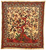 budawi® - Traditional India Wall Hangings 'Lebensbaum' 2,10 x 2,25 m Wand-Tücher, Wandtuch, Bedcover