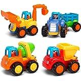 Moontoy Vehículos de Construcción Coche de Juguete Coche de Friccion Camion de Juguete Coche de Juguete de Plástico Regalo de