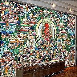 Tapiz de Templo Budista. 350X250Cm