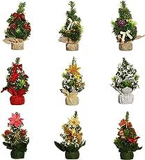 Etophigh Mini Weihnachtsbaum in Verschiedenen Farben, glänzende Weihnachten Dekoration für Häuser, Garten, Hotel, Restaurant, usw. Weihnachten Zubehör, 22 x 11cm
