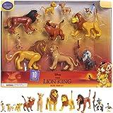 Le Rey Leon - Juego de 10 Figuras con Simba, Nala, Pumbaa, Timon, Rafiki, Zazu, Mufasa, Scar, Hyena, Vulture, Juguete para ni