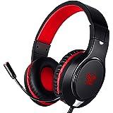 Karvipark H-10 Gaming-Headset für Xbox One PS4 PC Nintendo Switch, Geräuschunterdrückung, Bass-Surround-Sound, Over-Ear…