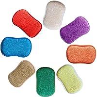 Cikuso La Cuisine antibactérienne en Microfibre tampons à récurer éponge Double éponge pour éponges Non abrasives, idéal…