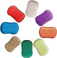 REFURBISHHOUSE La Cuisine antibactérienne en Microfibre tampons à récurer éponge Double éponge pour éponges Non...