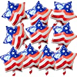 Cuatro De Julio De La Bandera Americana De Aluminio Globo De La Hoja De Mylar Globo Estrella De Día De La Independencia Decor