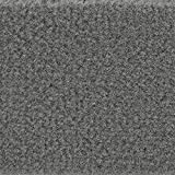 Teppichboden Auslegware Meterware Velour uni grau anthrazit 400 cm und 500 cm breit, verschiedene Längen, Variante: 4 x 5 m