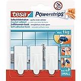 Tesa 57559-00000-01 Powerstrips Hooks Small TREND, Wit, Klein