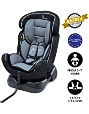 R for Rabbit Jack N Jill Grand - The Innovative Convertible Car Seat for Baby/Kids (from 0-7 Years) (Black Grey)
