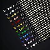 RATEL Marqueurs Métalliques,12 Couleurs Brillantes Stylos marqueurs métalliques pour Bricolage Artisanat d'art, Peinture rupe