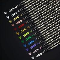 RATEL Marqueurs Métalliques,12 Couleurs Brillantes Stylos marqueurs métalliques pour Bricolage Artisanat d'art, Peinture…