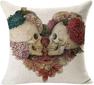 Vovotrade®Linge de maison Coussin décoratif Covers Vintage Skull Coussin pour canapé Cases 18 ''