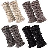 Sockenversandhandel 1 par de calentadores de lana de alpaca, suaves y cálidos, aprox. 30-36 cm de largo