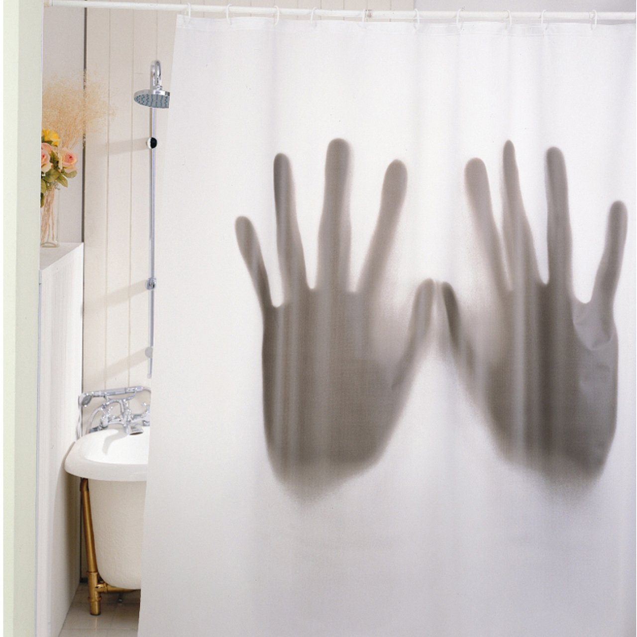 Scary shower curtain - Gift House International Scary Shower Curtain Amazon Co Uk Kitchen Home