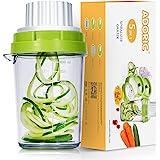 Adoric Spiralskärare 5-i-1 2021 spiralskärare för grönsaker, grönsakshyvel för morot, gurka, potatis, pumpa, zucchini, lök, g