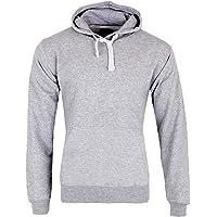 Mens Plain Fleece Hoodie Casual Pullover Sweatshirt Jacket Hooded Top Warm Jumper Plus Size UK S-5XL