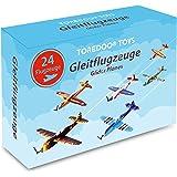 TOREDOO Toys Gleitflugzeuge Styropor Spielzeug Flieger Flugzeuge zum Werfen für Kinder | Gastgeschenke Geburtstag Jungen Mädchen | Kindergeburtstag Tüte Mitgebsel Mitbringsel Schultüte (24 Stück)