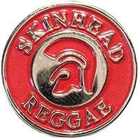 Skinhead Reggae Trojan casco rosso MOD Scooter metallo smalto distintivo
