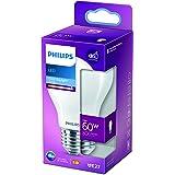 Philips ampoule LED Standard E27 60W Blanc très froid, Dépolie, verre